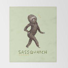 Sassquatch Throw Blanket