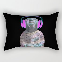 Happy Sitting Buddha Rectangular Pillow