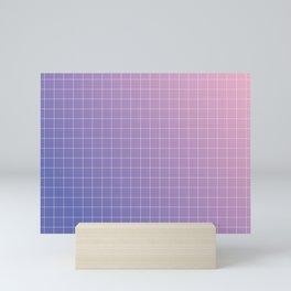 purple / pink - grid Mini Art Print