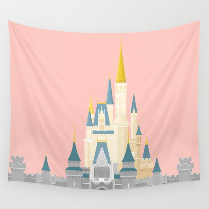 Cinderella Castle  Wall Tapestry