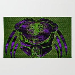 Soldier Predator Green Purple Rug
