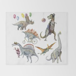 PARTY OF DINOSAURS Throw Blanket