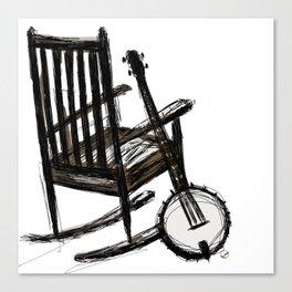 Grandma's Banjo Canvas Print