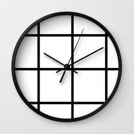 Big Grid Pattern Wall Clock