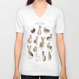 Rabbits & Hares Unisex V-Neck