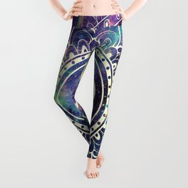 Om Mandala : Deep Pastels Galaxy Leggings