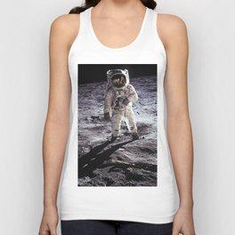 Buzz Aldrin on the Moon Unisex Tank Top