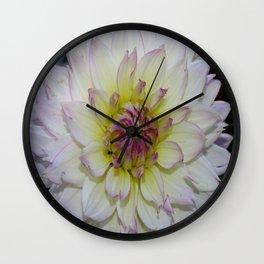 Dahlia Pastel Tones Wall Clock
