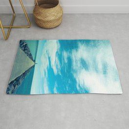 Into the blue Rug