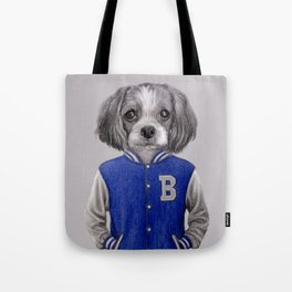 dog boy portrait Tote Bag
