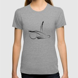 Abstract Pilates pose T-shirt