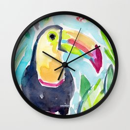 TORY THE TOUCAN Wall Clock