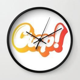 Crap! lettering Wall Clock