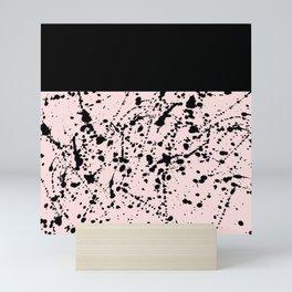 Splat Black on Blush Boarder Mini Art Print