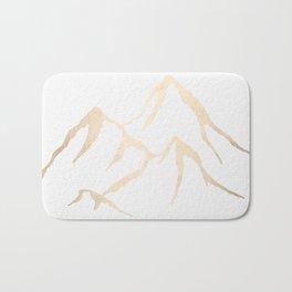 Adventure White Gold Mountains Bath Mat