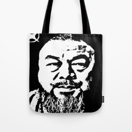 Ai Wei Wei White & Black Tote Bag