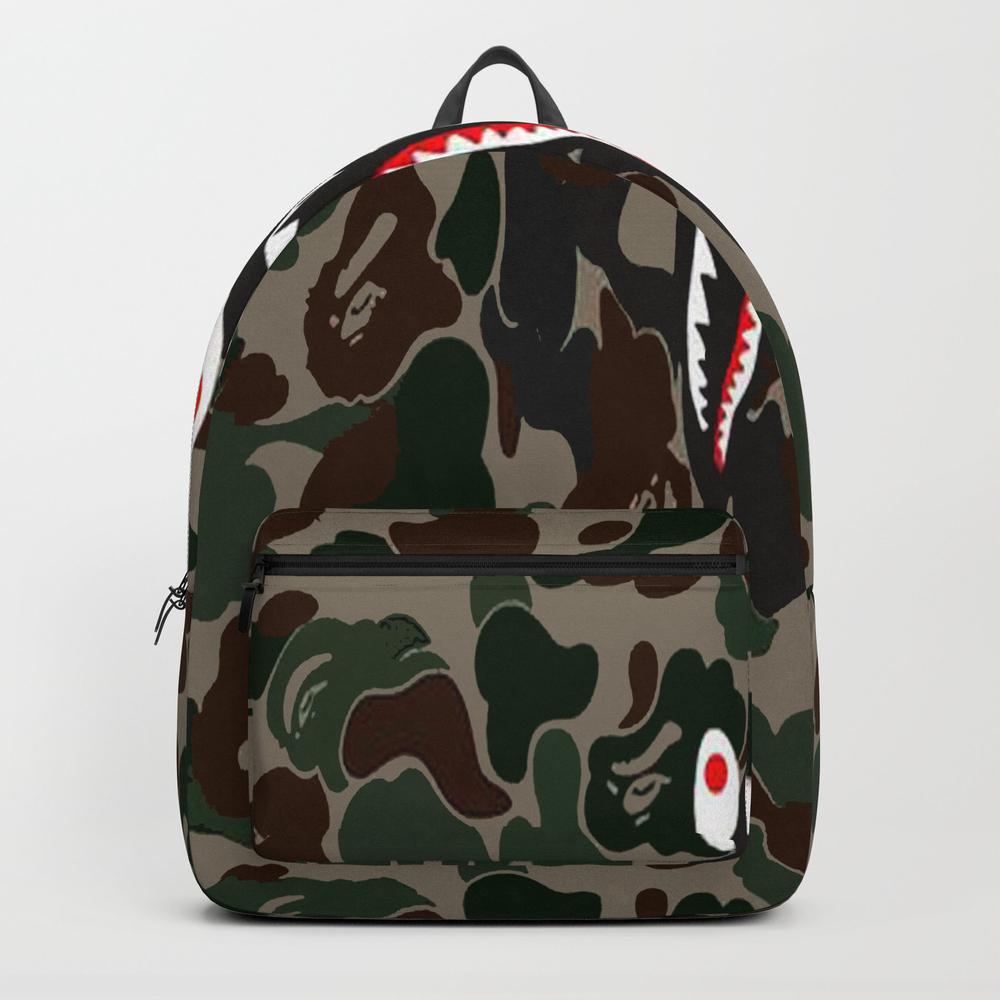 Shark Face Logo Backpack by Radeon BKP8266449