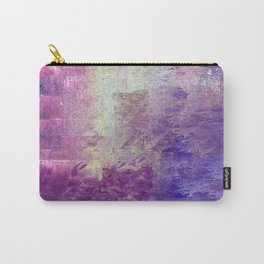 Abstract in Purples and Green Carry-All Pouch