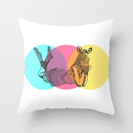 MANIMAL ZEBRA Throw Pillow