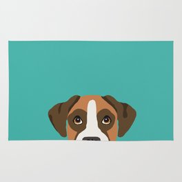 Boxer head dog breed gifts cute pupper Boxers must haves Rug