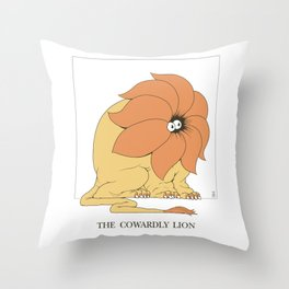 The Cowardly Lion Throw Pillow