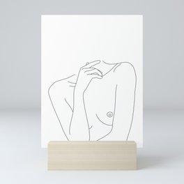 Woman's body line drawing - Cecily Mini Art Print