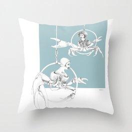 Weird & Wonderful: Crab Circus Throw Pillow