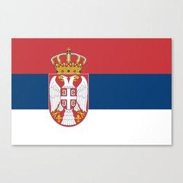 Flag of Sebia Canvas Print
