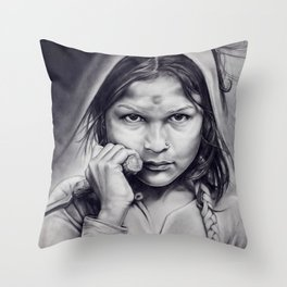 Little Old Death Throw Pillow