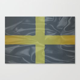 Silk Flag of Saint David Of Wales Canvas Print