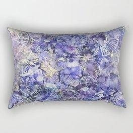 Lavender Fans Ink #11 Rectangular Pillow