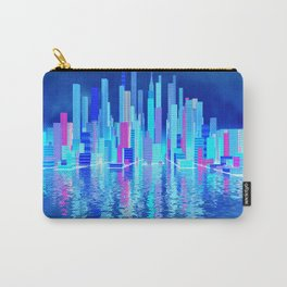 blue city over the sea Carry-All Pouch