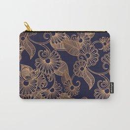 Flower Golden Carry-All Pouch