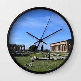 templi di paestum Wall Clock