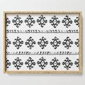 Black and White Bohemian Tribal Ethnic Kilim Pattern by tanjica