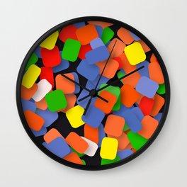 wild color pieces Wall Clock