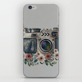 Camera with Summer Flowers iPhone Skin