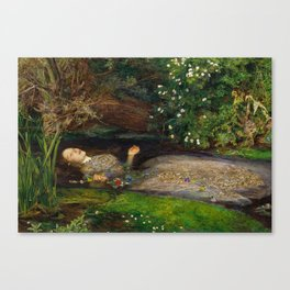 Ophelia from Hamlet Oil Painting by Sir John Everett Millais Canvas Print