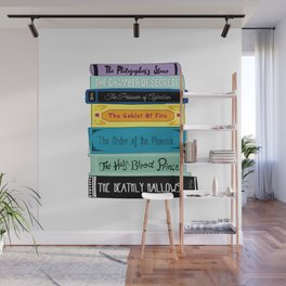 Hogwarts Stack of Wizardly Books Wall Mural