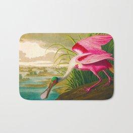 Roseate Spoonbill Bird pink Bath Mat