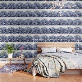 Succulent splendour - chambray Wallpaper