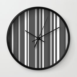 Grey Scale Lines Wall Clock