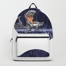 Cyclo in the Rain Vietnam Symbol Abstract Backpack