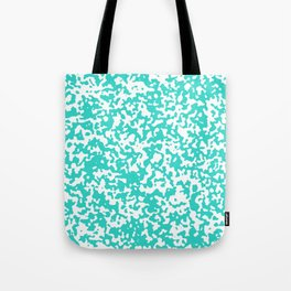 Small Spots - White and Turquoise Tote Bag
