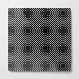 Black and Paloma Polka Dots Metal Print