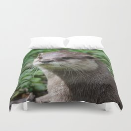 Asian short clawed otter Duvet Cover