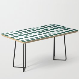 Green Abstract Paint Splotches Coffee Table