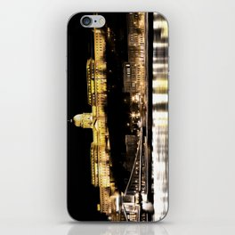 Budapest Chain Bridge And Castle Art iPhone Skin