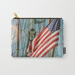 Sailing Ship Flag Carry-All Pouch