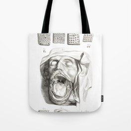 Human Anatomy Art Print MOUTH TONGUE PAPILLE Vintage Anatomy, doctor medical art, Antique Book Plate Tote Bag